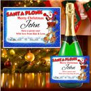 Personalised Christmas Wine / Champagne Bottle Label N19